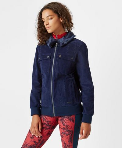 Cord Jacket, Beetle Blue | Sweaty Betty