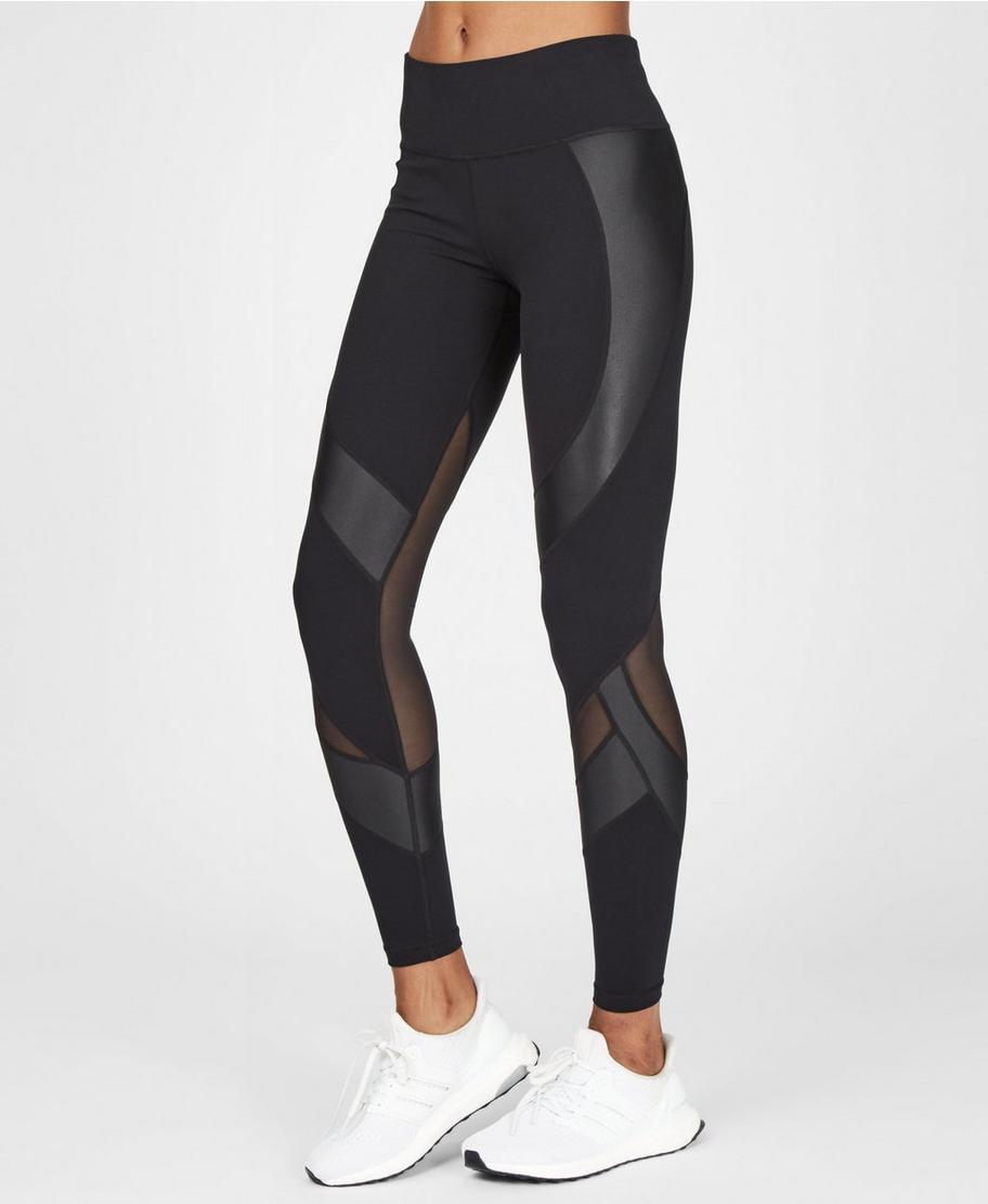 13ba77c90a710c Power Wetlook Mesh Leggings - Black | Women's Leggings | Sweaty Betty