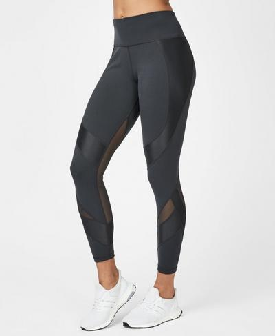 Power Mesh Workout Leggings, Slate | Sweaty Betty