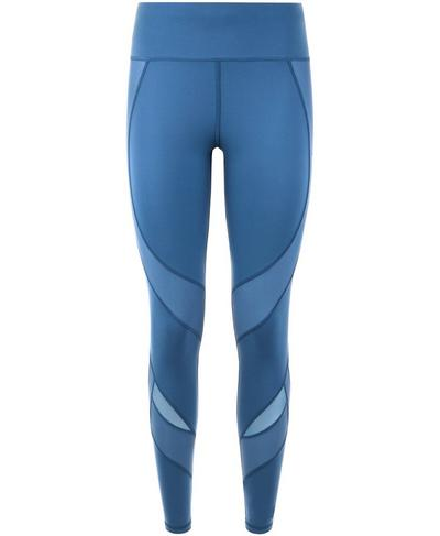 Power Mesh Workout Leggings, Stellar Blue | Sweaty Betty