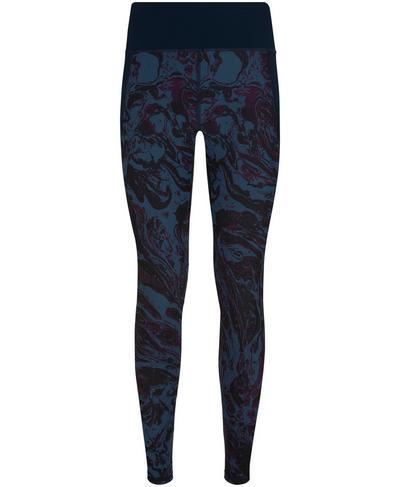 Zero Gravity 7/8 Run Leggings, Beetle Blue Swirl Print | Sweaty Betty