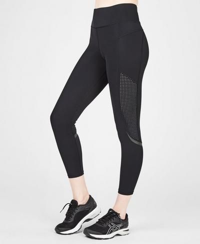 Zero Gravity High Waisted 7/8 Running Leggings, Black | Sweaty Betty