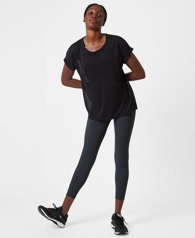 Zero Gravity High Waisted 7/8 Running Leggings, Slate | Sweaty Betty