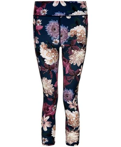 Zero Gravity 7/8 Run Leggings, Beetle Blue Blooms Print | Sweaty Betty