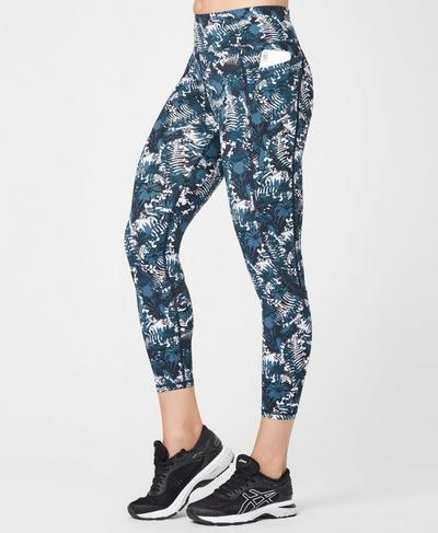 Zero Gravity High Waisted 7/8 Running Leggings, Stargazer Wild Garden Print | Sweaty Betty