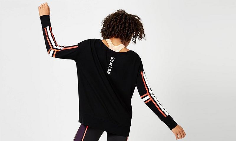 Simhasana Slogan Sweatshirt, Black | Sweaty Betty