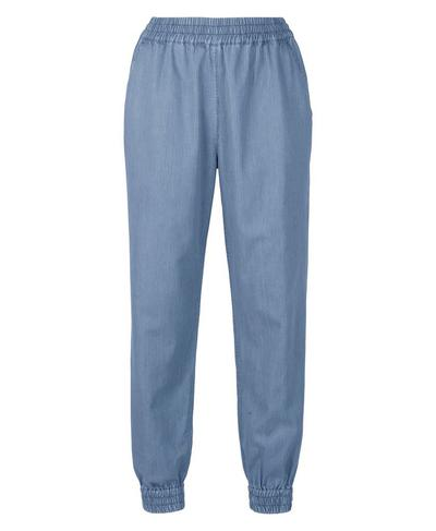 Twilight 7/8 Pants, Blue Chambray Stripe   Sweaty Betty