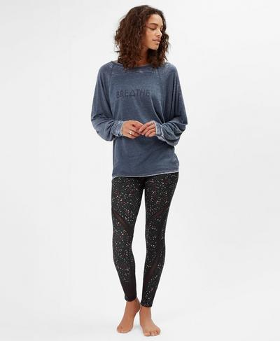 Asteya Long Sleeve Yoga Top, Beetle Blue A | Sweaty Betty