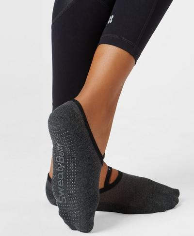 Pilates Socks, Slate Marl | Sweaty Betty