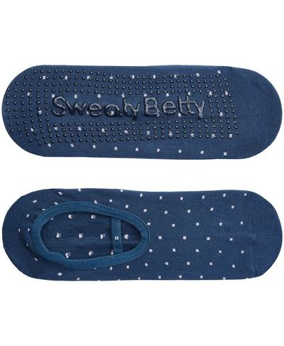 Pilates Socks, Beetle Blue Polka Dot | Sweaty Betty