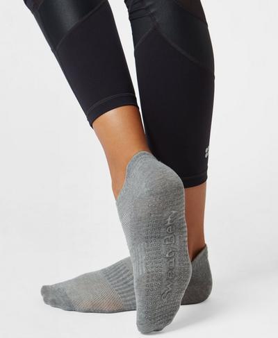 Barre Gripper Socks, Charcoal Marl | Sweaty Betty