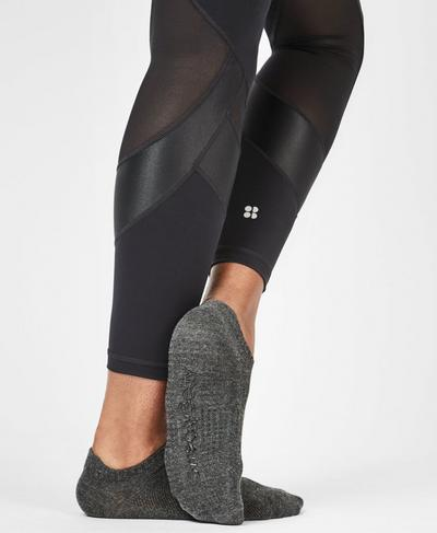 Barre Gripper Socks, Slate Black | Sweaty Betty