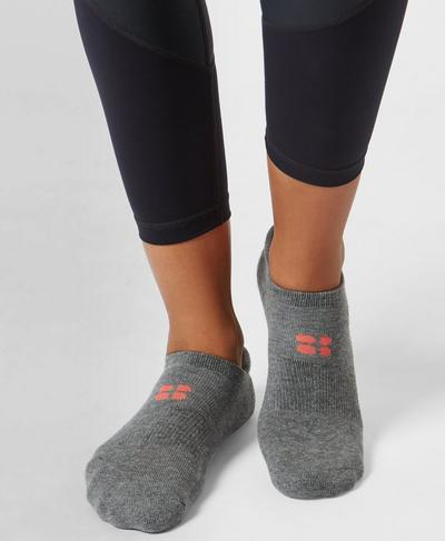 Sneaker Liners, Charcoal Marl | Sweaty Betty