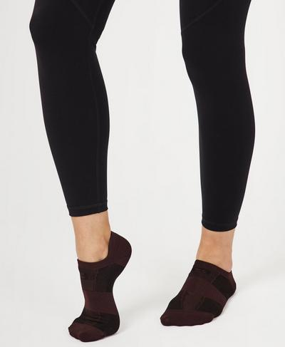 Lightweight Sneaker Liners, Black Cherry Purple | Sweaty Betty