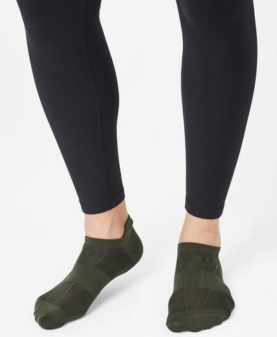 Lightweight Trainer Liners, Olive | Sweaty Betty