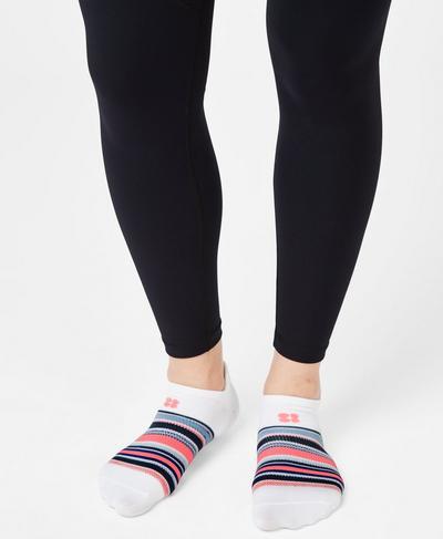 Lightweight Trainer Liner, White Based Stripe | Sweaty Betty