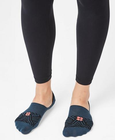 No Show Sneaker Liners, Beetle Blue Infinity Blue | Sweaty Betty