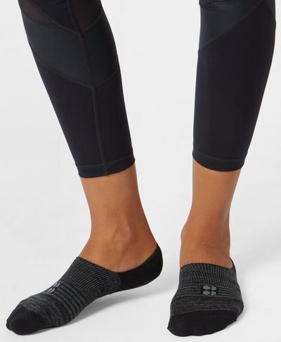 No Show Sneaker Liners, Black | Sweaty Betty
