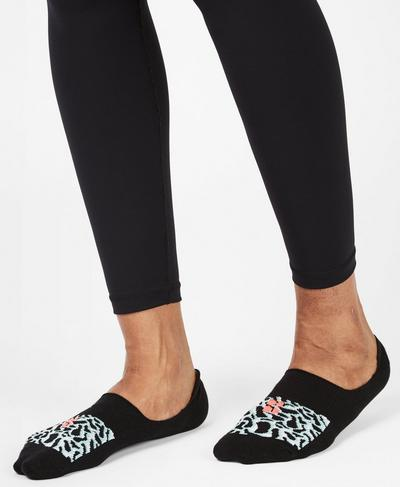No Show Sneaker Liners, Black Psychedellic Jacquard | Sweaty Betty