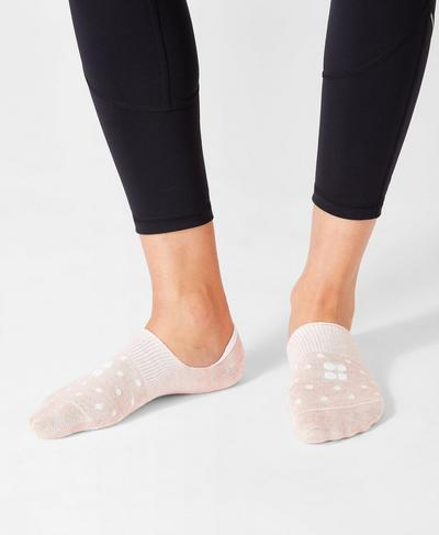 No Show Sneaker Liner, Velvet Rose Polka Dot | Sweaty Betty