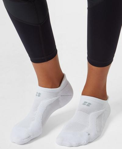 Technical Running Socks, White | Sweaty Betty