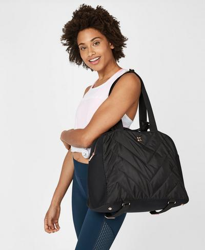 Quilted Luxe Kit Bag, Black | Sweaty Betty