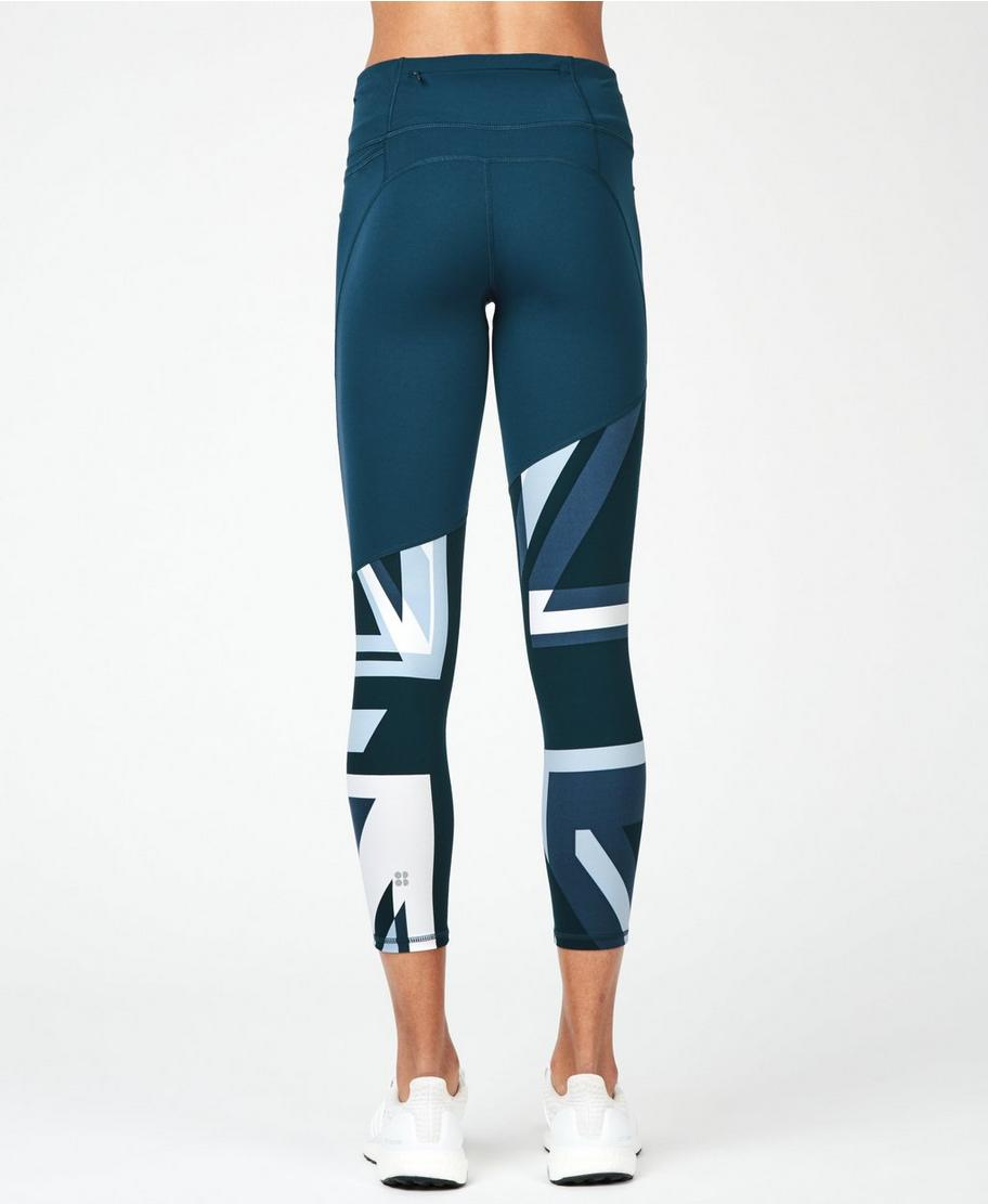 hot-seeling original 100% original great deals Power 7/8 Gym Leggings - Beetle Blue Union Jack | Women's ...