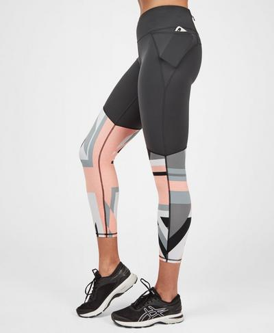Power 7/8 Workout Leggings, Grey Union Jack Print | Sweaty Betty