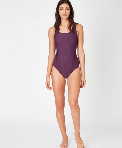 Springboard Swimsuit, Aubergine | Sweaty Betty