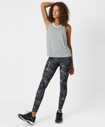 Box Jump Workout Vest, Silver Grey Marl | Sweaty Betty