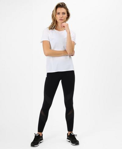 Breeze Short Sleeve Run Tee, White | Sweaty Betty