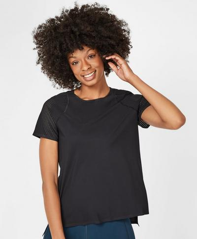 Breeze Short Sleeve Running T-Shirt, Black | Sweaty Betty