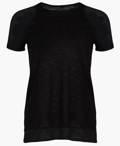 Breeze Short Sleeve Running T-Shirt, Black   Sweaty Betty