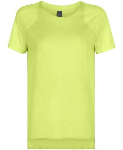 Breeze Short Sleeve Running T-Shirt, Lime Punch Green | Sweaty Betty