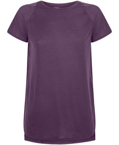 Breeze Merino Short Sleeve Tee, Aubergine | Sweaty Betty