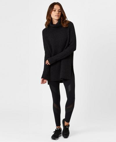 Shakti Knitted Sweater, Black | Sweaty Betty