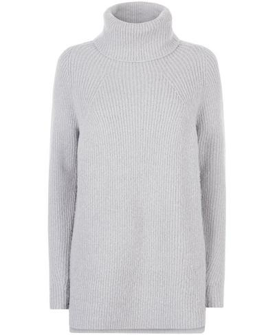 Shakti Knitted Sweater, Silver Grey Marl | Sweaty Betty