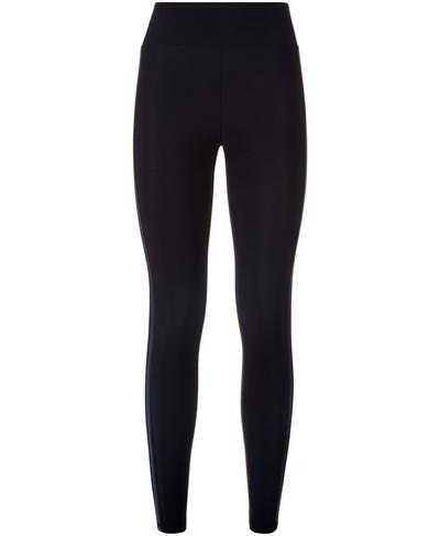 Thermodynamic Run Leggings, Black Tuxedo Stripe | Sweaty Betty