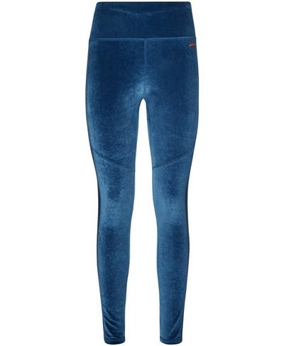 Velvet Fashion Leggings, Beetle Blue | Sweaty Betty