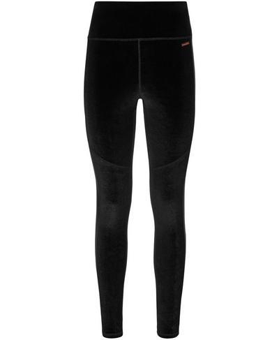 Velvet Fashion Leggings, Black | Sweaty Betty