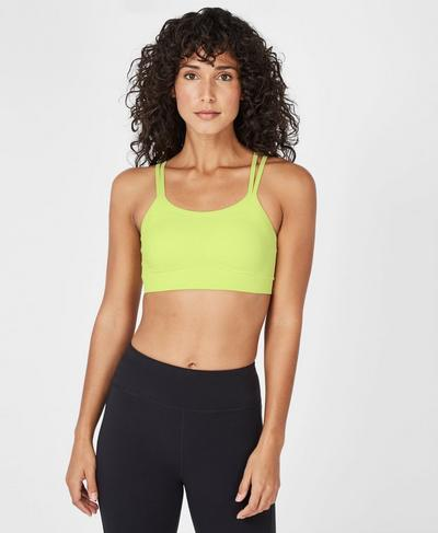 Brahma Padded Yoga Bra, Wild Lime | Sweaty Betty