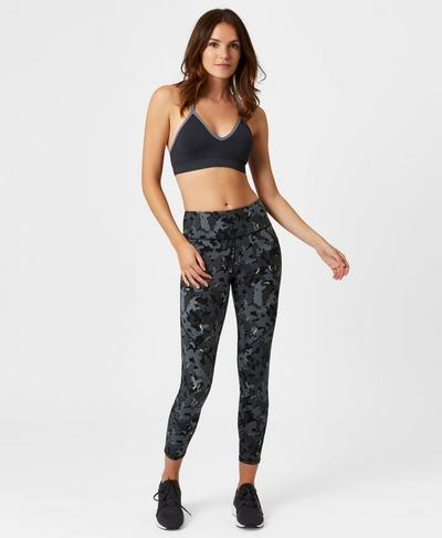 Shanti Yoga Bra, Slate | Sweaty Betty