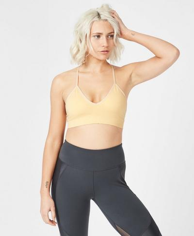 Shanti Yoga Bra, Yellow | Sweaty Betty