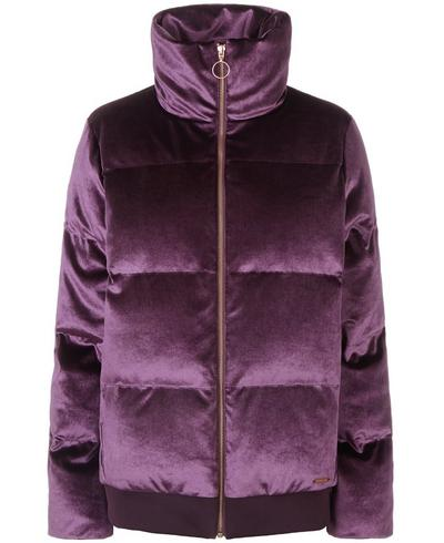 Velvet Puffa Jacket, Aubergine | Sweaty Betty
