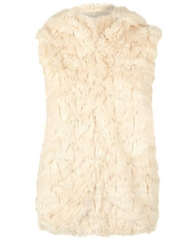 Faux Fur Vest, OATMEAL | Sweaty Betty