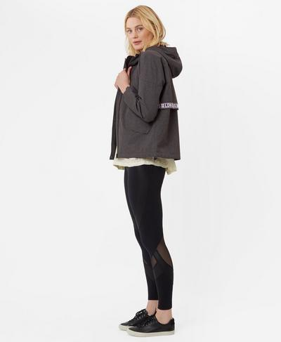 Cargo Shell Jacket, Black Marl | Sweaty Betty