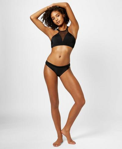 Brazilian Bikini Bottoms, Black | Sweaty Betty