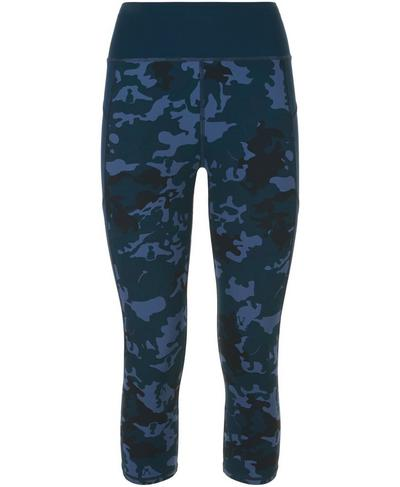 Zero Gravity Crop Run Leggings, Bull Dog Camo | Sweaty Betty