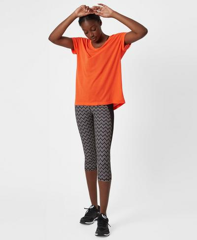 Zero Gravity Crop Run Leggings, Geo Multi Star | Sweaty Betty