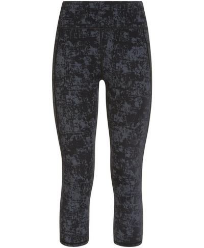 Zero Gravity High Waisted Capri Running Leggings, Slate Concrete Print | Sweaty Betty